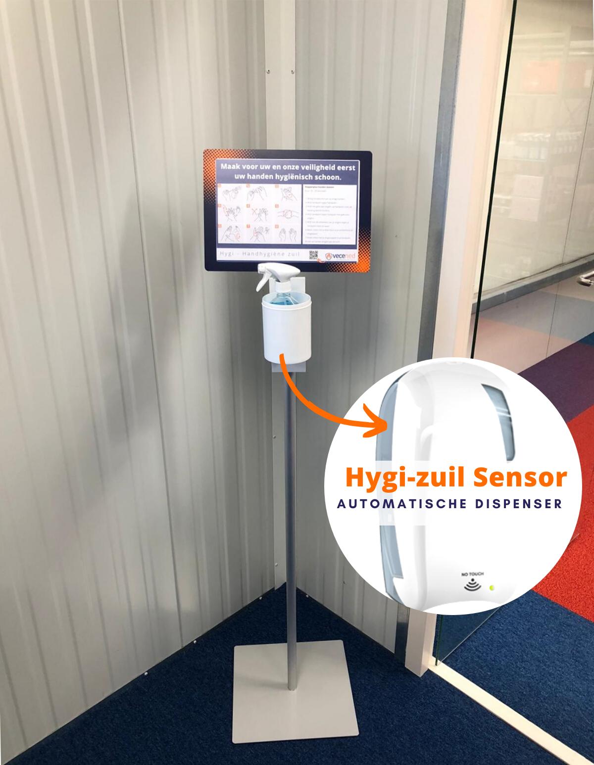 Hygi- Handhygiëne zuil – Sensor
